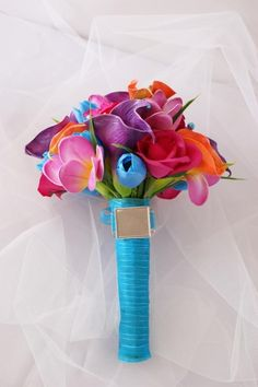 Blue and full of colour - amazing bouquet