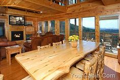 Nice Design Of Kitchen Images Cabin Style Homes, Log Homes, Gas Fireplace Logs, Gas Logs, Luxury Log Cabins, Home On The Range, Pole Barn Homes, Timber House, Kitchen Images