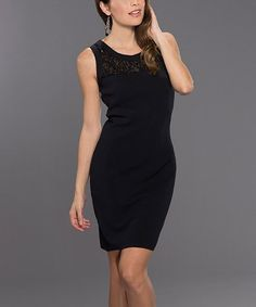 Loving this Black Sequin Mesh Sheath Dress on #zulily! #zulilyfinds
