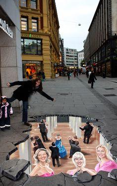 3D Pflasterbild in Innenstadt - Manfred Stader