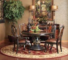 grandover round dining set | Hemispheres - A World of Fine Furnishings