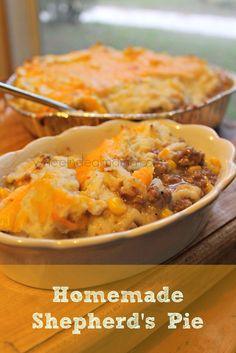 Homemade Shepherds Pie; Easy Freezer Meal