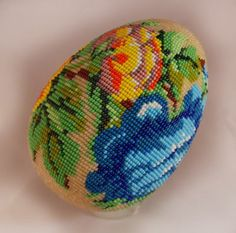 "Яйцо ""Мой старый сад..."" | biser.info - всё о бисере и бисерном творчестве"