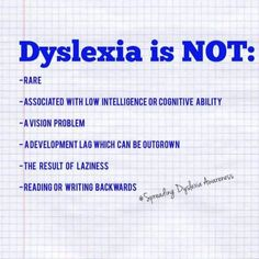 Always take the time to educate -- by sharing a few facts about dyslexia. More at www.dys-add.com.