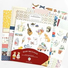 9 pcs/pack Fresh Style Animal Pet Self-Adhesive PVC Stickers Diary Notebook Stickers Decoration Stickers FOD