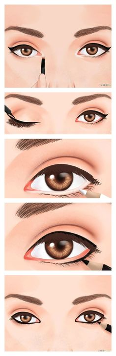 Tip on how to make your eyes look bigger… Makeup Tips, Eye Makeup, Hair Makeup, Makeup Stuff, Makeup Ideas, Makeup Tutorial For Beginners, Makeup Designs, Makeup Techniques, Perfect Makeup