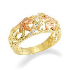 Plumeria+Ring+in+14K+Two-Tone+Gold