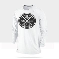 Nike 49ers White Black Logo #49ers #niners