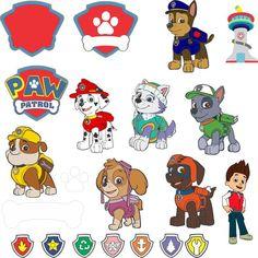 Paw Patrol SVG for Cricut Explorer - Paw patrol - Paw Patrol Cake, Paw Patrol Party, Paw Patrol Birthday Shirts, Dog Silhouette, Silhouette Projects, Imprimibles Paw Patrol, Dog Outline, Cumple Paw Patrol, Disney Alphabet