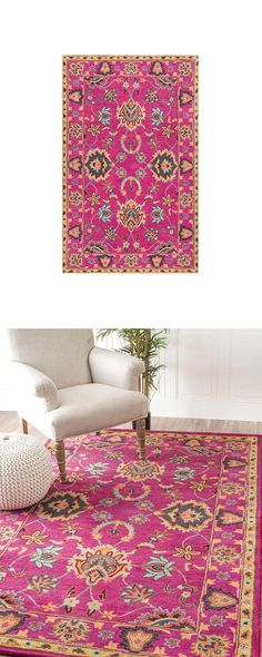 We fell hard for the deep pink, super-saturated hue of the Persimmon Rug. Ideal…