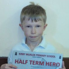 "Jack, a student at our Kirby Muxloe Centre was presented with a special ""Half Term Hero"" award at school recently for his ""amazing progress"", and for being more confident in making contributions in class."