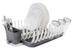 One Kings Lane - Organize the Kitchen - Smart Dish Rack, Graphite