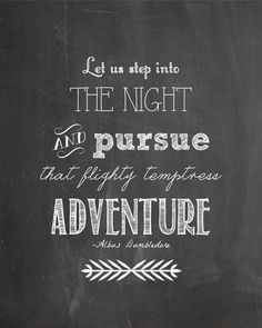 Yes! I LOVE THIS! This is my favorite HP quote.  Harry Potter Albus Dumbledore Quote, Adventure