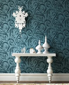 LLB's flocked Swurly Wurly Tease is inspired by the voluptious reflections of evening sunlight cast by the canals of Venice.