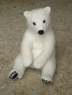 Needle Felted Young Polar Bear | Flickr - Photo Sharing!