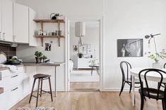 my scandinavian home: Beautiful small space inspiration - Swedish style! #swedish #kitchen