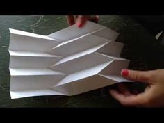 How to make paper art: the Reverse folded paper - http://www.7tv.net/how-to-make-paper-art-the-reverse-folded-paper/
