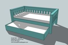 Ana White   Build a Trundle for Bed or Storage   Free and Easy DIY Project and Furniture Plans