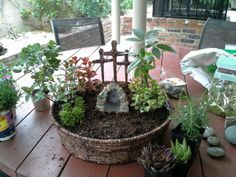"Resurrection Garden (beginning)- I like the rock on the ""tomb"""
