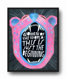 Girl power handlettered illustration by Lisa Congdon Powerful Quotes, Powerful Women, Feminist Art, Feminist Quotes, We Are The World, Lettering, Hand Typography, Divine Feminine, Girls Be Like