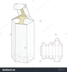 Hexagonal Tube Empty Tube Box With Die Cut Template Stock Vector Illustration 338812772 : Shutterstock