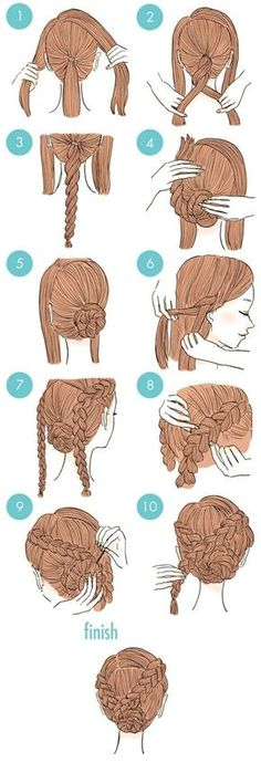 Splendid If you're feeling bored with your usual hairstyle but just don't want to go through all the expense and hassle of visiting the stylist, we have the perfect post for you. (cute hairstyles for school first day) Easy To Do Hairstyles, Cute Simple Hairstyles, Elegant Hairstyles, African Hairstyles, Amazing Hairstyles, Teenage Hairstyles, Evening Hairstyles, Hairstyles 2016, Creative Hairstyles