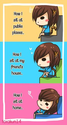 Torakun Comics :: How I sit... | Tapastic - image 1