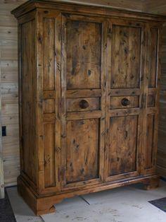Muebles con alzada muebles rusticos madera reciclada for Closet rusticos