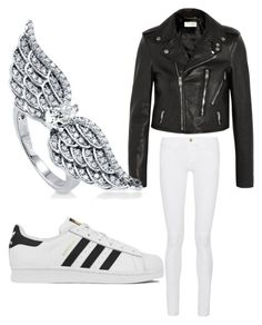 """Bad Angel"" by asiannagreer on Polyvore featuring Frame Denim, adidas, Yves Saint Laurent, BERRICLE, women's clothing, women's fashion, women, female, woman and misses"