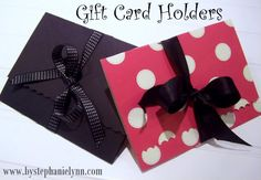 Under The Table and Dreaming: Easy to Make Gift Card Holders & A Scotch Double-Sided Tape Giveaway