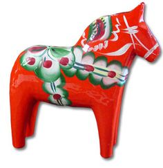 Dala Horses - Repin if you had one of these as a kid :)