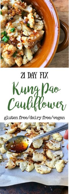 21 Day Fix Kung Pao Cauliflower - Confessions of a Fit Foodie - 21 Day Fix Kung. - 21 Day Fix Kung Pao Cauliflower – Confessions of a Fit Foodie – 21 Day Fix Kung Pao Cauliflowe - Vegan 21 Day Fix, 21 Day Fix Vegetarian, 21 Day Fix Diet, 21 Day Fix Meal Plan, Week Diet, 21 Day Fix Snacks, Clean Eating Recipes, Lunch Recipes, Healthy Dinner Recipes