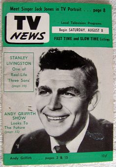 AUGUST 8, 1964 ANDY GRIFFITH SHOW Indianapolis TV NEWS guide by Mayberry Mania Memorabilia!, via Flickr