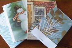 This recycled Christmas craft made of paper pads make for perfect homemade Christmas cards.
