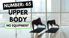 Upper Body Workout to Tone your Arms, Back, Chest & Core: 65 - YouTube Upper Body Home Workout, Upper Body Hiit Workouts, Full Body Dumbbell Workout, Fat Burning Cardio Workout, Toning Workouts, At Home Workouts, Exercises, Body Weight Hiit, Month Workout Challenge
