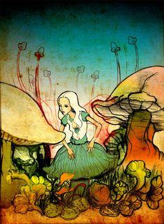 7defc15a222c8 Alice - m-chrome via Deviantart Lewis Carroll, Zentangles, Through The  Looking Glass