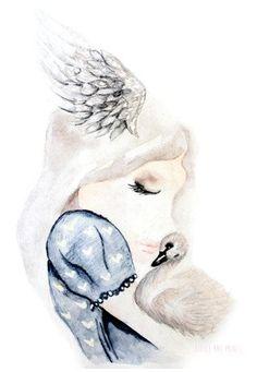 Swan Snuggles - Little Rae Prints
