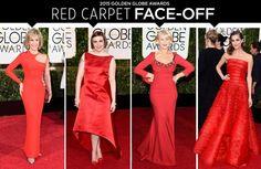 Golden Globes Red Carpet Face Off: Lena Dunham, Helen Mirren & More