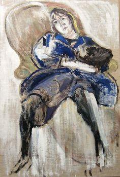 Varlin (Willy Guggenheim) – Die kranke Ella (Ella malade), 1960 Öl über Kreidevorzeichnung auf Leinwand, 139.5x94.5 cm | Kunstmuseum Olten, Ankauf 1960 Artist Art, Artists, Painting, Design, Museum Of Art, Switzerland, Canvas, Art Production, Artist