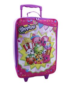 Love this Pink Shopkins™ Rolling Suitcase on #zulily! #zulilyfinds