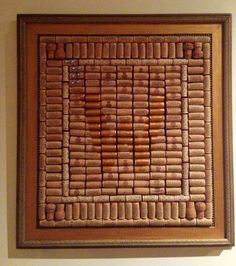 Monogrammed wine cork board. Great wedding gift!