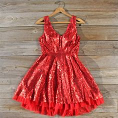 Halloween Costume: Dazzling Dusk Party Dress in Red, Sweet Women's Bohemian Clothing Nye Dress, Sequin Party Dress, Tulle Dress, Dress Red, Holiday Dresses, Special Occasion Dresses, Love Clothing, Bohemian Clothing, Cute Dresses