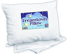 Dreamtown Kids Toddler Pillow with Pillowcase White. Made in USA. Ideal for Daycare, Baby Cribs, Toddler beds and car Rides. Baby Pillows, Kids Pillows, Nursery Bedding, Bedding Sets, Girl Nursery, Girl Room, Nursery Ideas, Toddler Pillowcase, Baby Mattress