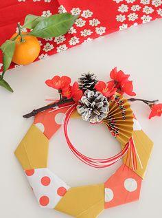 【親子工作】お正月も折り紙でおしゃれリースを作ろう! THANKYOU WORKS〜工作つれづれ〜 Japanese New Year, Chinese New Year, Origami, Diy And Crafts, Paper Crafts, New Years Decorations, Mother And Child, Holiday Parties, Floral Wreath