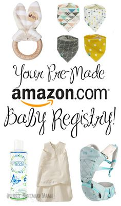 Your Pre-Made Amazon Baby Registry! {Natural, affordable, unisex baby items, baby registry checklist}