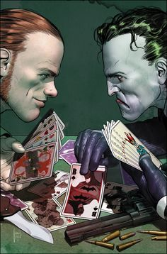 The Joker and the Riddler are going to war over who will kill Batman first - The Washington Post Dc Comics Games, Comic Games, Batman Comics, Batman Art, The Riddler, Comic Book Artists, Comic Books Art, Comic Art, Deadshot