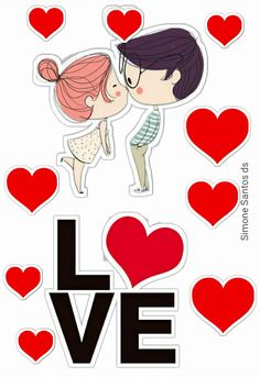 Cute Couple Drawings, Pattern Paper, Cute Couples, Cake Toppers, Valentines Day, Scrapbook, Stickers, Love, Birthday