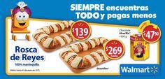 Oferta de Rosca de Reyes Magos en Walmart