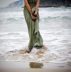 Patience is what the sea teaches. Patience and faith. One should lie empty, open, choiceless as a beach—waiting for a gift from the sea. Green Beach, Boho Green, Green Ocean, Soft Autumn, Greek Mythology, Aphrodite, The Little Mermaid, In This Moment, My Style