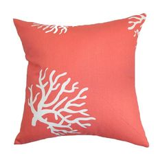 Reef Pillow in Coral Coral